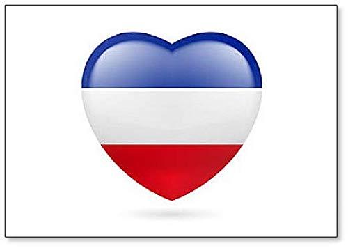 Hart Vlag Van Joegoslavië - Klassieke Koelkast Magneet