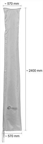 Schneider Schutzhülle für Ampelschirme, silbergrau, bis 400 cm Ø & 300x300 cm - 2
