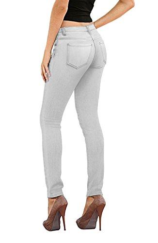 Hybrid & Company Womens Super Stretch Jeans P26132SKX Grey 14