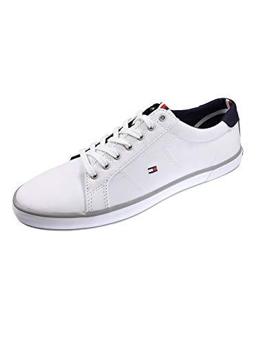 Tommy Hilfiger Fm0fm00596-100_40, Zapatillas de Lona Hombre, Blanco White, EU