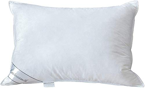 Natural Goose Down Feather Pillow for Sleeping,100% Organic Cotton Cover Bed Pillow Standard Size 1 Pack