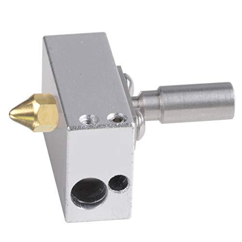 rongweiwang 3D Printer ugello estrusore della Testina di Stampa M200 3D Parti della Stampante 1.75mm di Ricambio incandescenza per Zortrax M200, 0,4 Millimetri di Calibro Brass