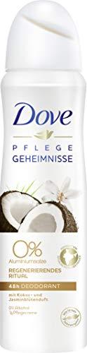 Dove verzorgende geheimen regenererende Ritual kokos- en jasmijnbloesemgeur 0%, deodorantspray, verpakking van 6 (6 x 150 ml)
