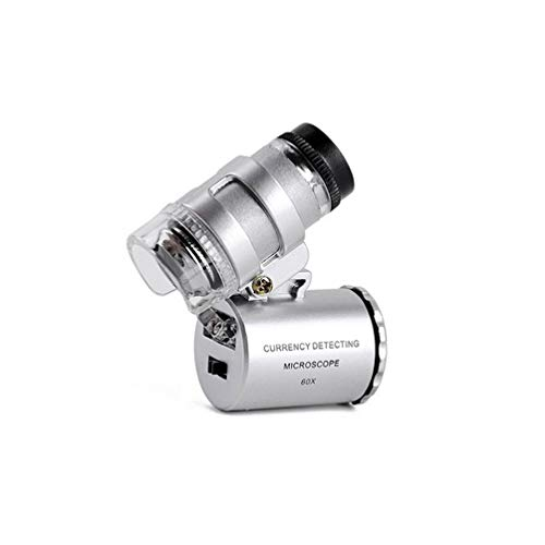 Blaikepcam 60x Handheld Mini Pocket Microscope LED Loupe Magnifier Jewelry Magnifier Jeweler Loupe