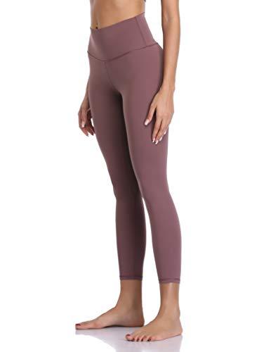 Colorfulkoala Women's Buttery Soft High Waisted Yoga Pants 7/8 Length Leggings (S, Dusty Red)