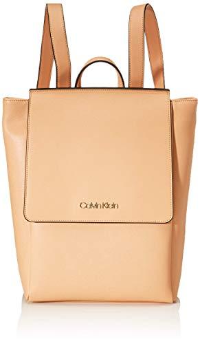 Calvin Klein Worked Backpack - Zaini Donna, Beige (Dark Sand),...