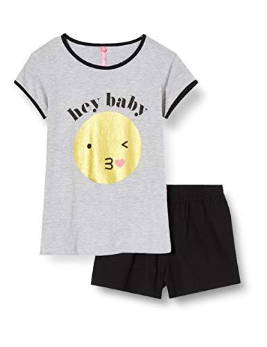 Lina Pink EF.HAP.PSH Conjuntos de Pijama, Gris (Gris China/Negro Gris China/Negro), 10 años para Niños