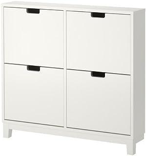 Ikea STÄLL - Zapatero con 4 Compartimentos, Color Blanco