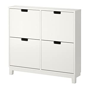 IKEA STALL - Shoe cabinet with 4 compartments, white - 96x90 cm by Ikea