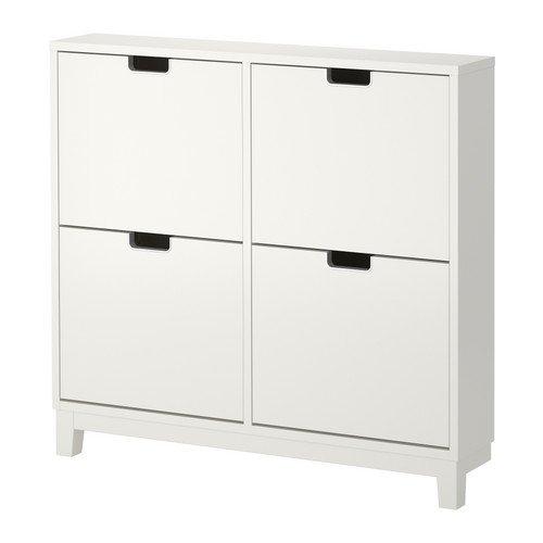 IKEA STALL -Schuhschrank mit 4 Fächern weiß - 96x90 cm
