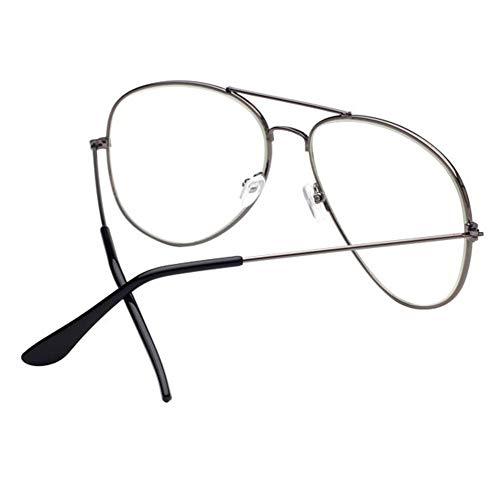 Gorgebuy Gafas Transparentes para Lentes ópticos–Gafas Clásicas para Hombre Mujer Bonus Gafas para Limpieza de un par (Colores aleatorios) Pistola # 1