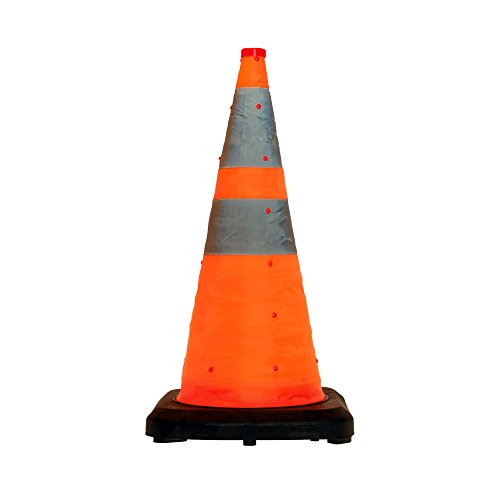 LED-MARTIN® Leitkegel faltbar 70cm - besonders schwere Ausführung - Unfallabsicherung - Absperrung - Umleitung - Straßensicherheit - Faltleitkegel