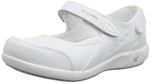 Oxypas Move 'Nelie' Slip-resistant, Antistatic Leather Nursing Shoes with Coolmax Lining,5.5 UK(39 EU)