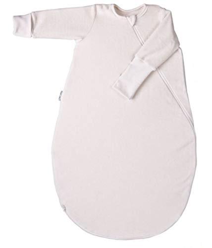 Popolini Schlafsack Langarm aus Baumwollvlies Bio-Baumwolle (L - 110 cm)