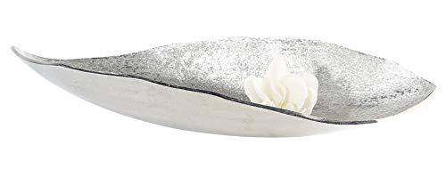 Casablanca Onda in alluminio, argento anticato, L: 64cm, con superficie geschliffener struttura