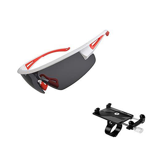 ZHLZH Radsportbrille/Radsportbrille Für Frauen, Polarisierte Fahrrad Sonnenbrille Brillen Mann Frauen Fahrrad Sport UV400 Sonnenbrille für Radfahren Reiten Fahren,Red