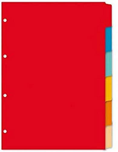 Register Kangaro A4 blanko gerecycled manilla karton 180grs 4r. 6 teilig sortiert, 29.7x22.5x0.1, PE406