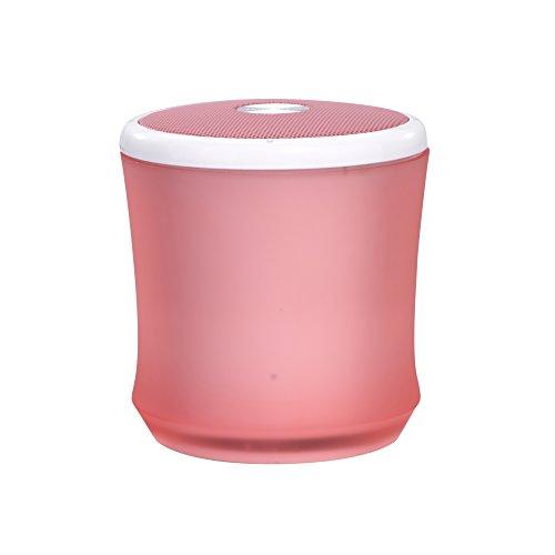 TERRATEC CONCERT BT Neo xs Bluetooth Lautsprecher, Fantastischer Sound, Enormer Bass, bis zu 4 Stunden kabellose Musik, AUX IN, für iPhone, Samsung (pink)
