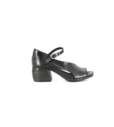 AS98 - Sandalias de mujer de piel - Art. 624010 Negro