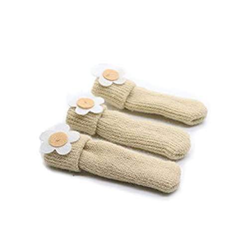 4Pcs New Chair Leg Socks Cloth Floor Protection Knitting Wool Socks Anti-Slip Table Socks Table Legs Furniture Feet Sleeve Cover-A13