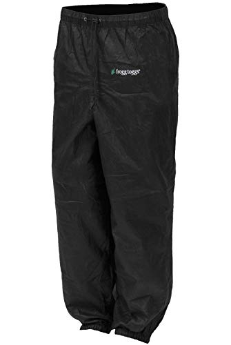 Frogg Toggs Pro Action Womens Rain Pants, Size: 2XL, Distinct Name: Black, Gender: Womens, Primary Color: Black PA83522-