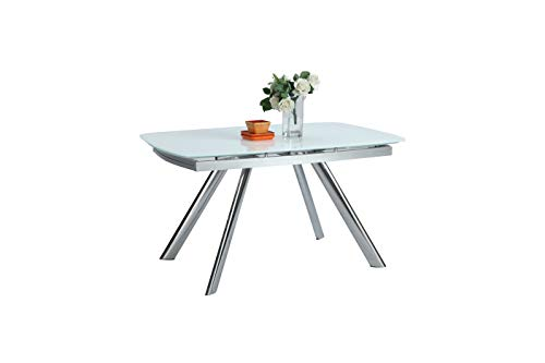 Milan Arianna Dining Table, White