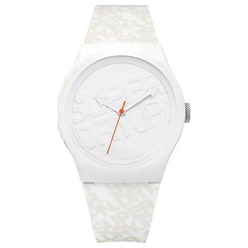 Superdry Reloj Analógico para Hombre de Cuarzo con Correa en Silicona SYG169W