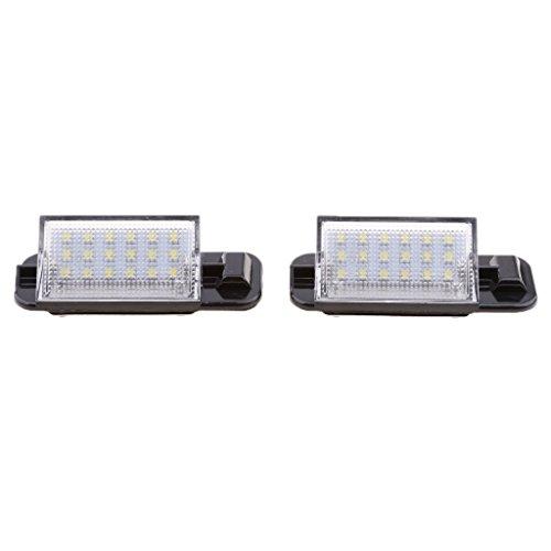 Sharplace 2X Lampe Lumière Numéro Plaque d'Immatriculation 12V 1.5W de Voiture
