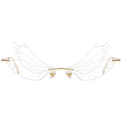 ZSGG Nouvelles lunettes de soleil aile de libellule de mode,...