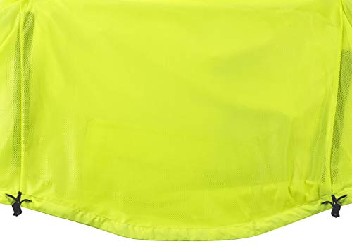 Ettore Mens Cycling Jacket Waterproof Breathable High Visibility - Yellow - Night Eagle II - L