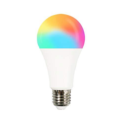 Tuya WiFi Smart Light Bulbs,RGB LED Light Bulb Dimmable, Tuya App 220-240V Remote Control Trabaja con Alexa Echo Google Home,para iluminación del hogar, control remoto,control de voz, no requiere