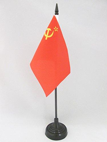 AZ FLAG Bandera de Mesa de la URSS 15x10cm - BANDERINA de DESPACHO ROJA - Comunista – SOVIÉTICA - Rusia 10 x 15 cm