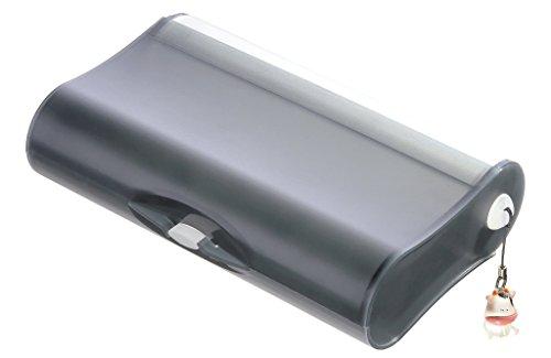 HAN 996-69, trousse pour l'école 3 compartiments COOL. Trousse géniales doté de 3 compartiments et d'un tableau aide-mémoire, gris translucide - autres coloris disponibles
