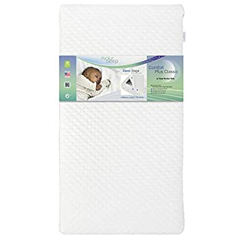 Evolur Comfort Plus Classic 150 Coil Inner Spring Crib & Toddler Mattress I Waterproof I GREENGUARD Gold Certified I Removable Cover  EV-860