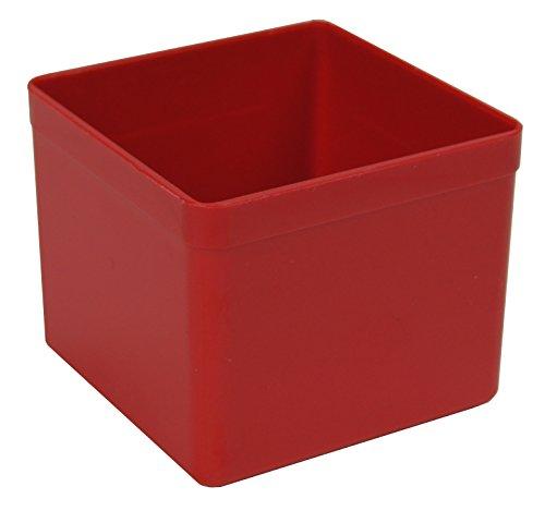 Sparpack (48 St.) Kunststoff-Einsatzkasten Sortierbox, rot, 54x54x45 mm (LxBxH), aus PS