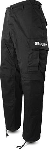 normani Herren Security Hose Feldhose mit Schirftzug beidseitig [S-3XL] Farbe Security-schwarz Größe L