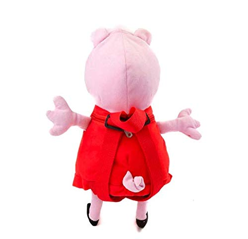 Peppa Pig Plush Backpack Pink Red