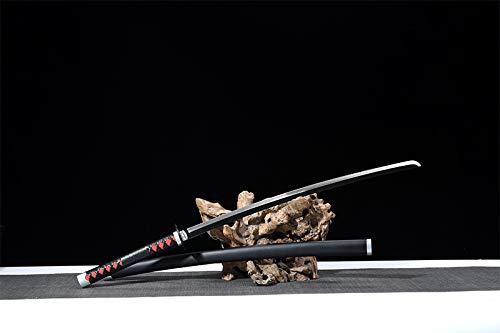 Yongli Sword Demon Slayer: Kimetsu no Yaiba Japanese Anime Kamado Tanjirou Kochou Shinobu Cosplay Replica Sword Game Carbon Steel (Kamado Tanjirou)
