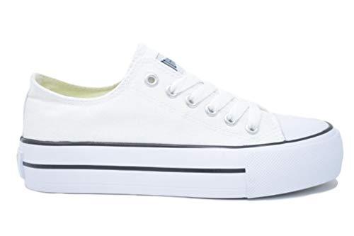 John Smith Libel 21V, Zapatillas Mujer, Blanco, 36 EU