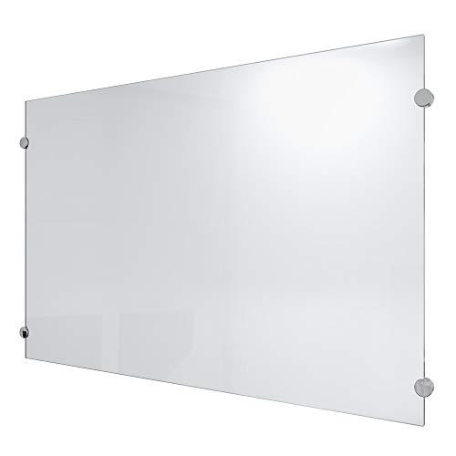 ECOfoxx 6mm ESG Glas Küchenrückwand Spritzschutz Herd Fliesenspiegel Glasplatte Rückwand viele Größen (Milchglas, 100x50cm)