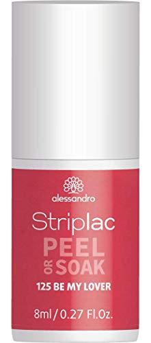 alessandro Striplac Peel or Soak Be my Lover – LED-Nagellack in dezentem Rot – Für perfekte Nägel in 15 Minuten – 1 x 8ml