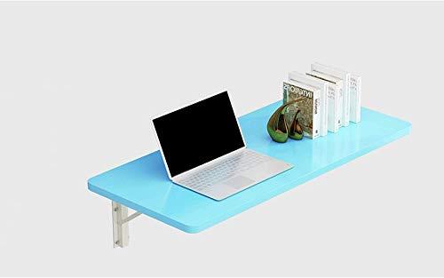 FCXBQ - Mesa de pared para montar en la pared, mesa invisible, para cocina, plegable, tamaño opcional, 4 colores, para dormitorio, baño, cocina, restaurante (60 x 30 cm), color azul