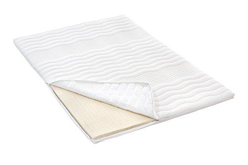 Möbelfreude Naturlatex Topper 160 x 200 cm für Boxspringbetten und Matratzen | Gesamthöhe: 6 cm | Matratzenauflage für unbequeme Betten und Doppelbetten | 100% Naturlatex ? Natürliches Schlafen