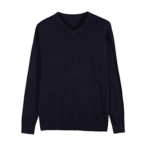 Men Knitted Pullover Cashmere Sweater Casual Business V Collar Thin Slim fit Sweaters Clothes,Purple,L