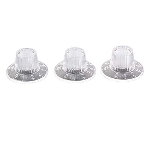 Exceart 3 Stks Gitaarversterker Knoppen Helder Volume Toonregelknoppen Acryl Versterker Cilinderhoed Voor Elektrische Gitaar Onderdelen
