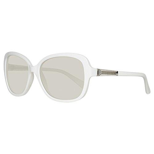 Guess Sonnenbrille GU7455 5821C Occhiali da sole, Bianco (Weiß), 58 Donna