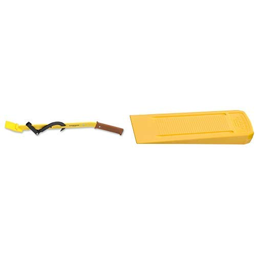 Ochsenkopf OX 58-1200 Fällheber 1200 mm Forstwerkzeuge gelb 125.0 x 13.0 x 10.0 cm & OX 31-0300 Kunststoff-Fällkeil ALASKA