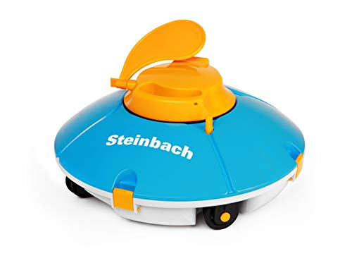 Steinbach Poolrunner Battery Basic, für Pools bis 25 m² Grundfläche, vollautomatisch, kabellos, akkubetrieben, blau, 061205