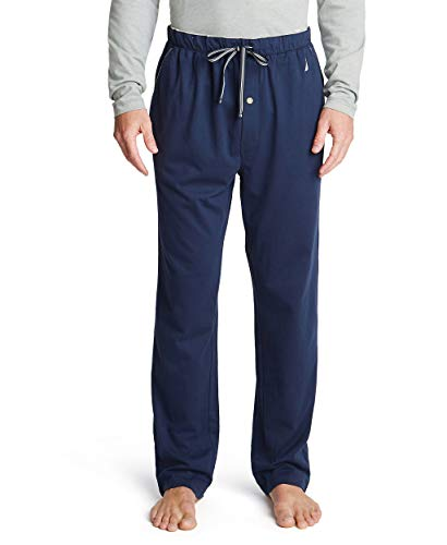 Nautica Men's Knit Sleep Pant, Navy, Medium
