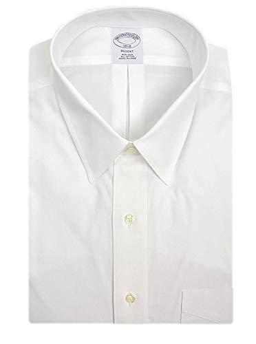 Brooks Brothers Mens Regent Fit Non Iron 100% Cotton Pocket Dress Shirt Bright White (17 Neck 32/33 Sleeves)